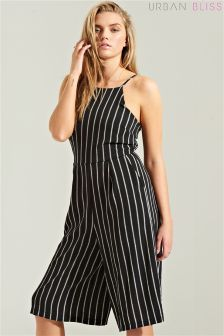 Urban Bliss Striped Cropped Jumpsuit