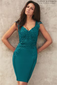 Lipsy Love Michelle Keegan Appliqué Detail Bodycon Dress