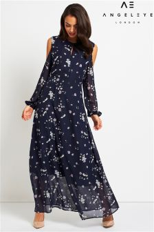 Angeleye Cold Shoulder Maxi Dress