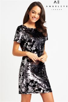 Angeleye Sequin Velvet Mini Dress