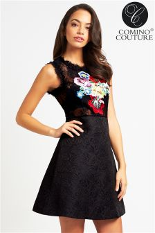 Comino Couture Embroidered Dress