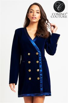 Comino Couture Velvet Blazer Dress