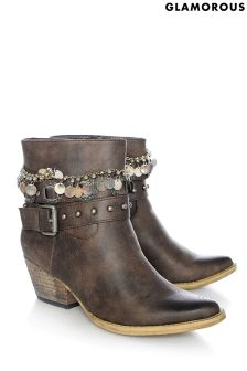 Glamorous Multi Strap Ankle Boots