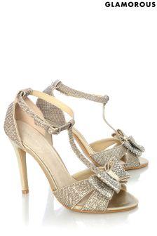Glamorous Glittler Bow Sandals