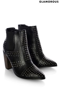 Glamorous Studded Ankle Boots