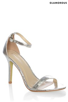 Glamorous Barely There Metallic Sandals