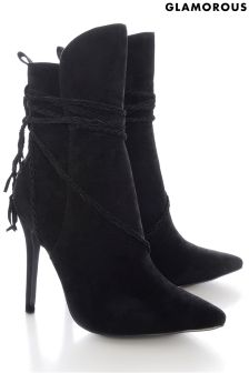 Glamorous Strappy Pointed Ankle Boots
