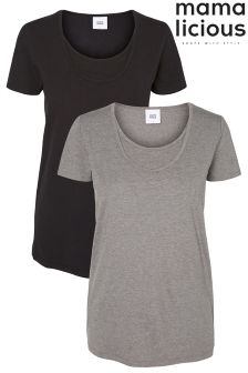 Mamalicious Maternity Basic Nursing T Shirts