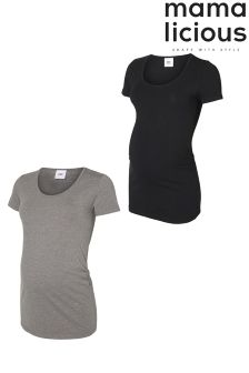 Mamalicious Pack Of 2 Maternity T-shirts