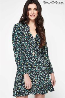 Miss Selfridge Floral Wrap Ruffle Dress