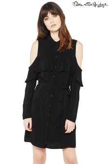 Miss Selfridge Ruffle Shirt Dress