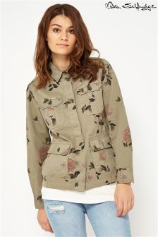 Miss Selfridge Floral Print Shirt Jacket
