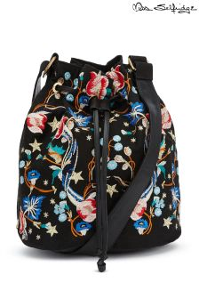 Miss Selfridge Embroidered Bucket Bag