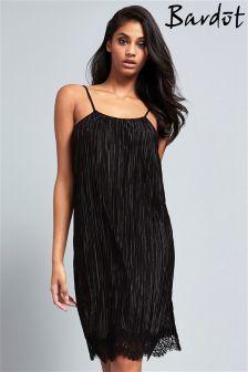 Bardot Pleated Slip Dress