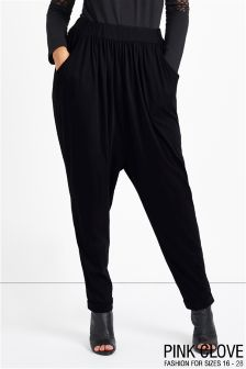 Pink Clove Casual Plus Size Hareem Trousers