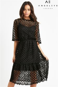 Angeleye Midi Crochet Dress