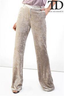 True Decadence Velvet Trousers