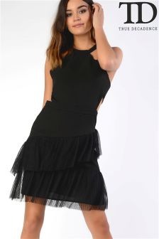 True Decadence Frill Hem Dress