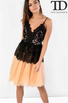 True Decadence Lace Strappy Dress
