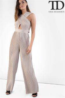 True Decadence Ruched Front Jumpsuit