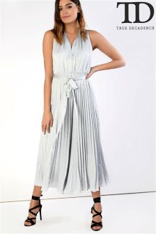 True Decadence Metallic Dress