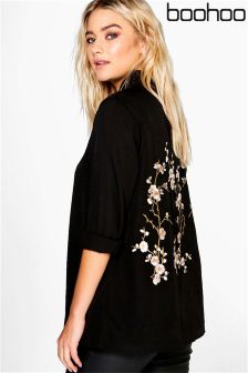Boohoo Boutique Embroidered Back Shirt