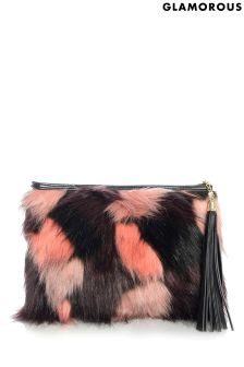 Glamorous Faux Fur Clutch Bag