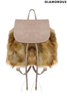 Glamorous Faux Fur Backpack
