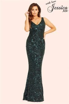 Jessica Wright All Over Sequin Maxi Dress