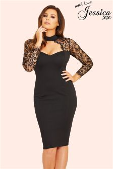 Jessica Wright Lace Sweetheart Bodycon Dress