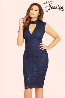 Jessica Wright Sequin Lace Bodycon Dress