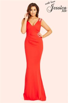 Jessica Wright Pleated Maxi Dress