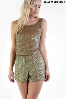 Glamorous Petite Sequin Shorts