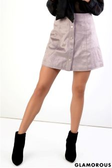 Glamorous Button Up A line Skirt