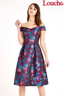 Louche Luxe Bardot Floral Dress