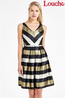 Louche Luxe Metallic Stripe Dress