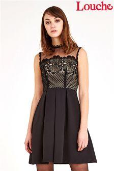 Louche Luxe Organza Insert Lace Bodice Dress