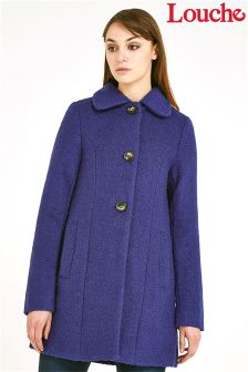 Louche Collar Button Front Coat