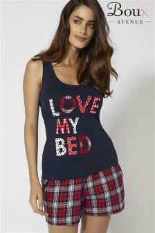 Boux Avenue Love My Bed Vest And Short