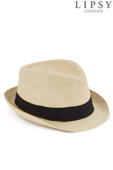 Lipsy Straw Trilby Hat