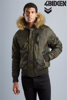 4 Bidden Fur Hooded Parka
