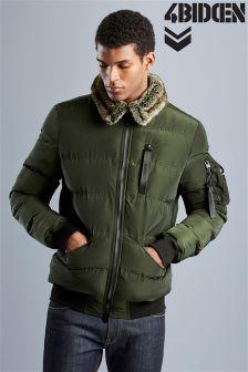4 Bidden Fur Collar Puffer Jacket
