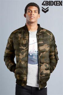 4 Bidden Camo Puffer Jacket