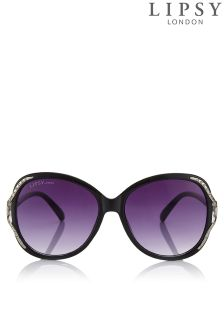 Lipsy Large Round Glam Sunglasses