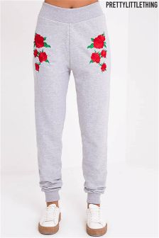 PrettyLittleThing Embroidered Joggers