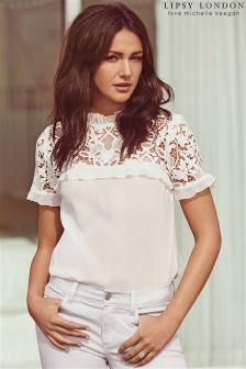 Lipsy Love Michelle Keegan Lace Frill T-shirt