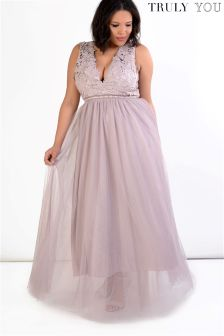 Truly You Lace Detail Maxi Dress