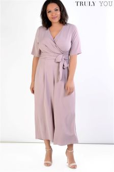 Truly You Tie Front Jumpsuit