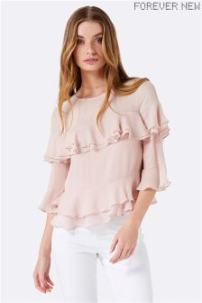 Forever New Tiered Frill Fluted Blouse