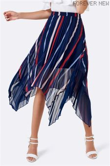 Forever New Contrast Print Pleated Skirt